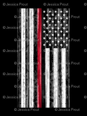 2 yard minky panel - Thin Red Line
