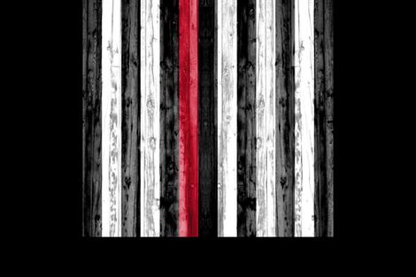 2 yard minky panel - Thin Red Line  fabric by littlearrowdesign on Spoonflower - custom fabric