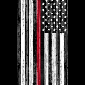 2 yard minky panel - Thin Red Line