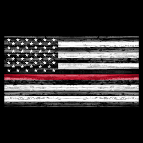 1 yard panel - Thin Red Line