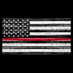 1 yard panel - Thin Red Line