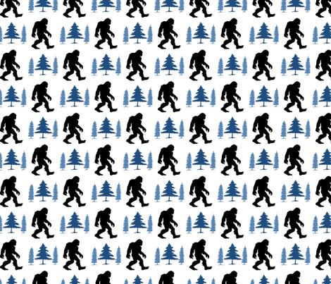 Sasquatch Blue Trees fabric by mariafaithgarcia on Spoonflower - custom fabric
