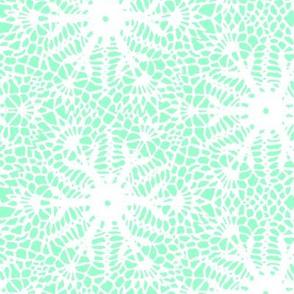 crocus snowflake mint green white