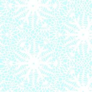 crocus snowflake ice blue white