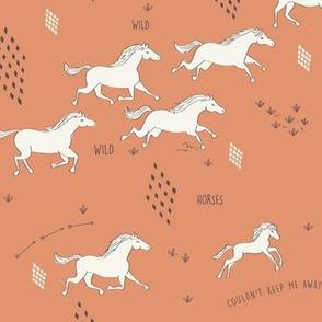 Wild Wild Horses in Clay