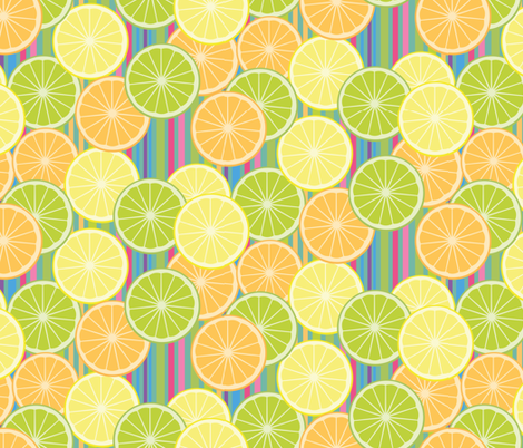 Juicy Citrus Slices fabric by jaanahalme on Spoonflower - custom fabric