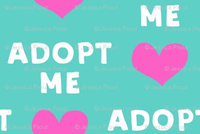 adopt me - pink & teal