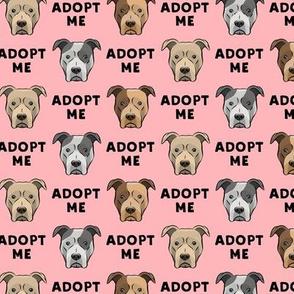 adopt me - pit bulls on pink