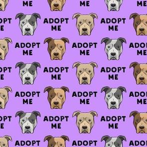 adopt me - pit bulls on purple