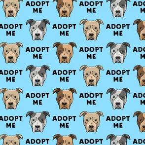 adopt me - pit bulls on blue