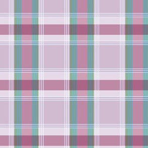 Plaid pattern wine red