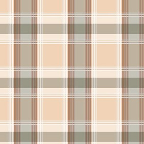 Plaid pattern brown and peach
