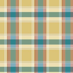 Plaid pattern green and yellow
