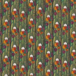 Art Nouveau Floral Colorful pattern