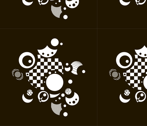 abstract circle and  fabric by tanya_krivich on Spoonflower - custom fabric