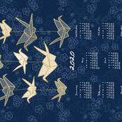 2020 Calendar, Sunday / Origami
