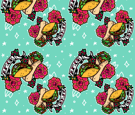 Taco, Burrito! fabric by elinkarusell on Spoonflower - custom fabric