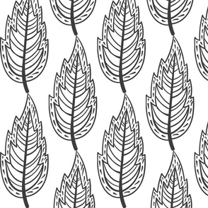 Doodle Blatt schwarz-weiß 2