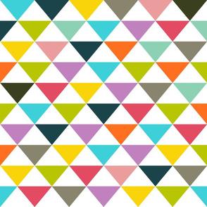 Dreiecke weiß bunt