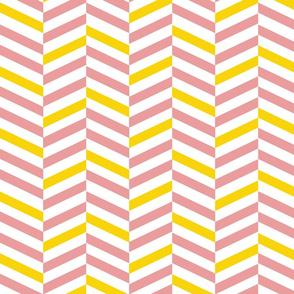 Streifen schräg rosa gelb weiß
