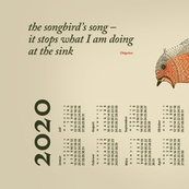German 2020 Calendar, Monday / Haiku Songbird