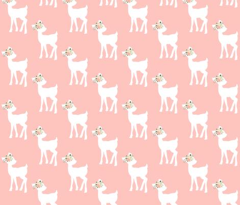 Fawn (light peach) – Baby Deer Girls Nursery Bedding fabric by gingerlous on Spoonflower - custom fabric