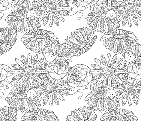 snail fabric by avot_art on Spoonflower - custom fabric