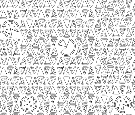 Pizza The Pie fabric by geekygamergirl on Spoonflower - custom fabric