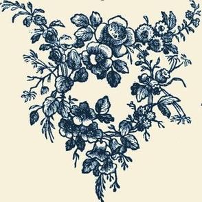 Woodcut Garlands Blue