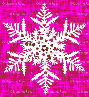 White snowflake on Pink texture