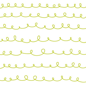 Loops weiss limonengrün doodle