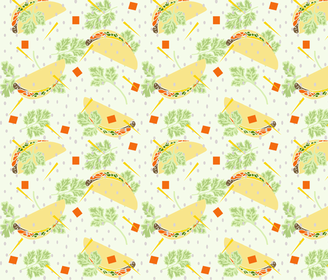 cilantro allover copy fabric by lorloves_design on Spoonflower - custom fabric