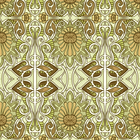 In A Chrysanthemum Place fabric by edsel2084 on Spoonflower - custom fabric
