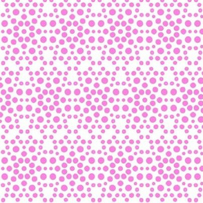 Pink Dolly Dot Lace on White