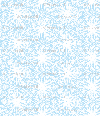 crocus snowflake sky blue white
