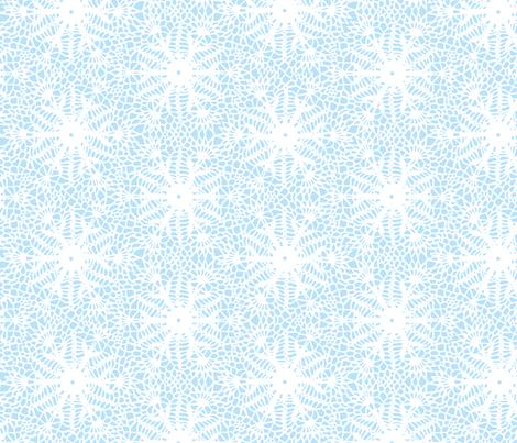 crocus snowflake sky blue white fabric by whatever-works on Spoonflower - custom fabric