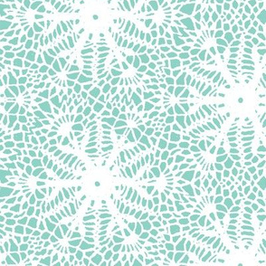 crocus snowflake sea green white