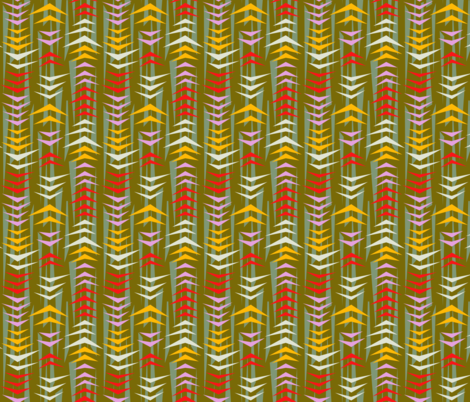 Tiki Geese Olive fabric by ameemax on Spoonflower - custom fabric