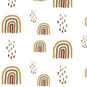 Rainbow - Autumn Colors Gender neutral Boho rainbow Rust Mustard Olive Brown