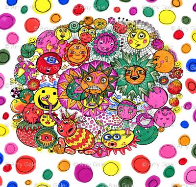 circle of circular stuff doodle, large scale
