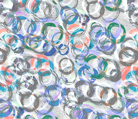 Messy Circles fabric by lucybaribeau on Spoonflower - custom fabric