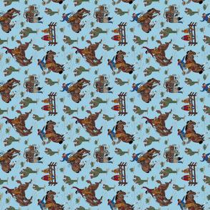blue cowboys tea towel
