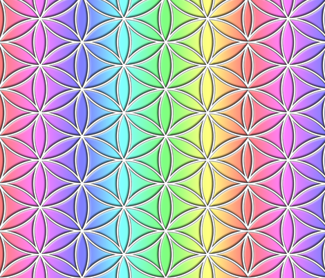 Flower of Life, PRIDE fabric by sweetpeaandpoppy on Spoonflower - custom fabric