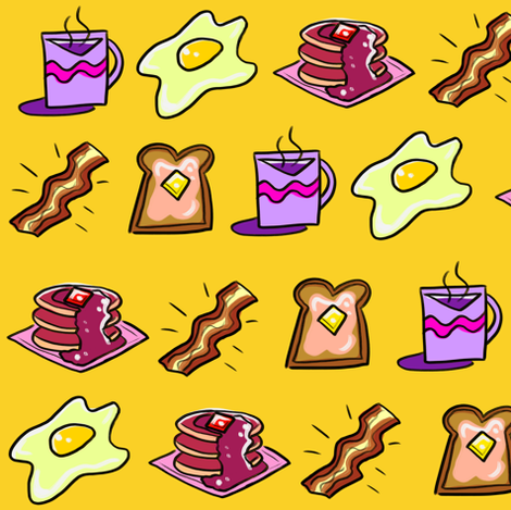 Breakie in Yellow fabric by pinkindetroit on Spoonflower - custom fabric
