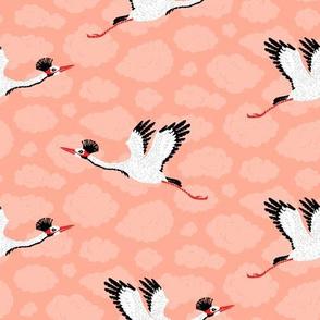 Cranes & Pink Clouds