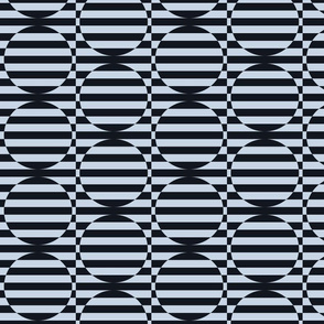 stripey circles are the new triangles charcoal and blue