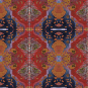 Dots orange Persian carpet