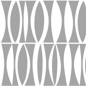 Bold minimal gray lens