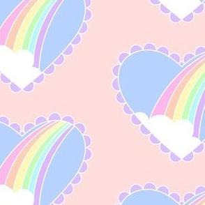 Rainbow Heart-Peach
