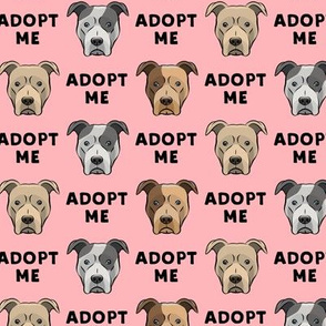 (slightly larger) adopt me - pit bulls on pink C18BS